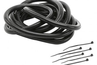 "Mr. Gasket® - 1/4"" x 10' Black Split Loom Tubing with Tie Kit"