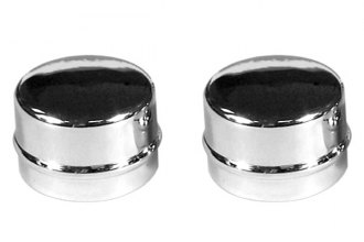 "Mr. Gasket® 2485 - Front Chrome Dust Caps (1.79"" Diameter)"