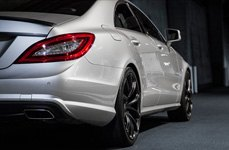 MRR HR10 Matte Black on Mercedes CLS Class - Rear View