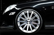 MRR HR9 Silver with Diamond Cut Face on Mercedes E350
