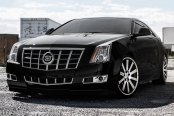 MRR® -  CV8 Matte Black with Machined Face and Chrome Lip on Cadillac CTS