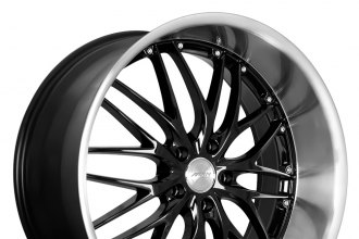 "MRR® - GT1 Gloss Black with Machined Lip (19"" x 8.5"", +20 to +45 Offsets, 5x108-120.65 Bolt Patterns, 74.1mm Hub)"