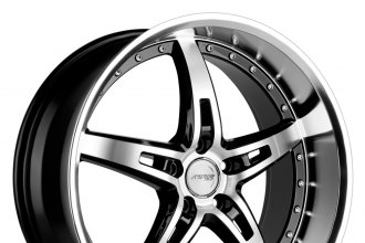 "MRR® - GT5 Black with Diamond Cut Face and Lip (19"" x 8.5"", +20 to +45 Offsets, 5x108-120.65 Bolt Patterns, 73mm Hub)"