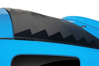 Image may not reflect your exact vehicle! MSI® - Aluminum Rear Window Louvers