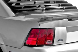 Image may not reflect your exact vehicle! MSI® - Rear Window Louvers (Unpainted)