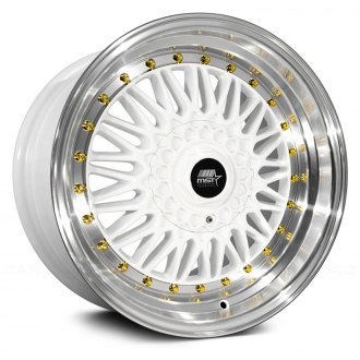 MST® - MT13 White with Machined Lip and Gold Rivets