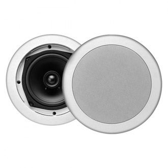 "MTX Audio® - 5-1/4"" 2-Way In-Ceiling Mount 80W Speakers with Single 1/2"" Balanced Dome Tweeters"
