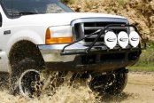 N-Fab® - Textured Black Front Pre-Runner Style Light Bar