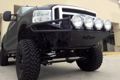 N-FAB® - RSP Replacement Gloss Black Front Bumper with Skid Plate