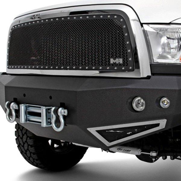 Heavy Front Bumper : N fab t fwb full width black front winch hd bumper