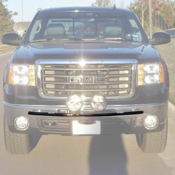 N fab chevy silverado 2011 bumper light bar with tabs for up to n fab bumper light bar with tabs for up to 4x9 round aloadofball Choice Image