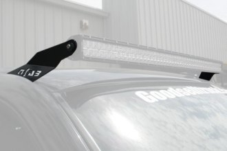 "N-Fab® - Textured Black Roof Mounts for 49"" to 50-3/8"" Straight LED Light Bar"