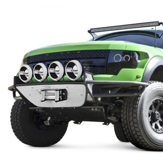 "N-Fab® - RSP Full Width Front Winch Pre-runner Bumper with Multi-Mount up to Four 9"" Lights"