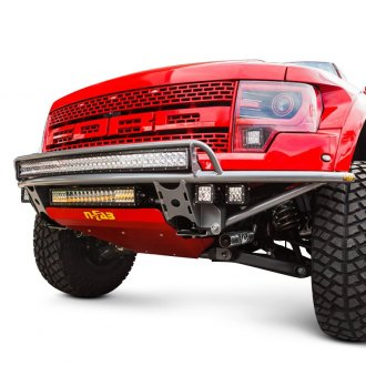 N-Fab® - RDS Full Width Front Pre-runner Bumper with Skid Plate and Upper Radius Mount Light Bar