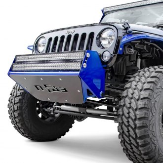 "N-Fab® - RSP Stubby Black Front Pre-Runner Bumper with Mount up to Two Rigid 38"" LED Bars"