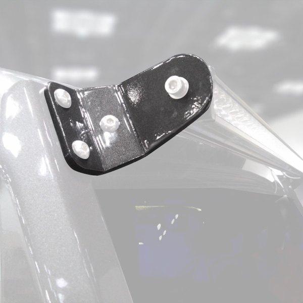 N fab jk150 modular textured black aluminum windshield frame n fab modular textured black aluminum windshield frame mounts for 50 straight aloadofball Choice Image