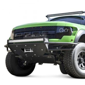 "N-Fab® - RSP Full Width Front Winch Pre-runner Bumper with Mount up to One Rigid 38"" LED Bar"
