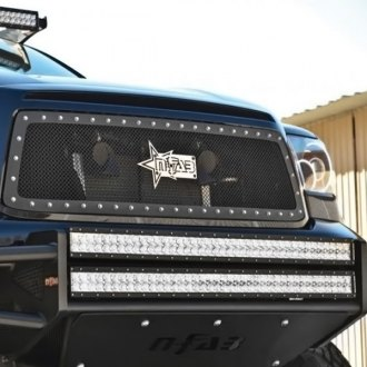 N-Fab® - Textured Matte Black Wire Mesh Main Grille