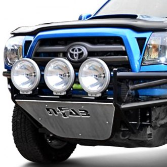 Image may not reflect your exact vehicle! N-Fab® - RSP Textured Black Front Bumper with Mount up to Three 9 Lights