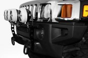 Image may not reflect your exact vehicle! N-Fab® - Light Bar on Hummer H3 Installed
