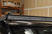 "N-Fab® - Gloss Black Roof Mounted Light Brackets For 49"" to 50 3/8"" Side Mount LED Light Bar"