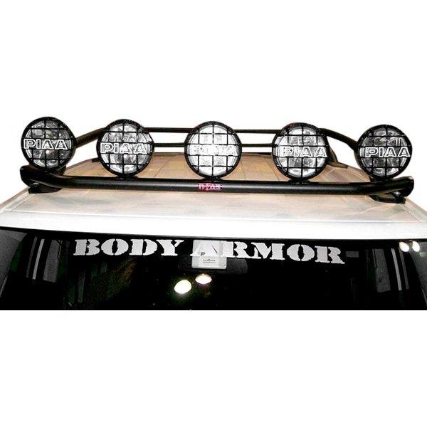 light bar n fab rear textured black roof mounted light bar n. Black Bedroom Furniture Sets. Home Design Ideas
