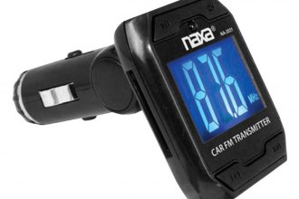 Naxa® - Wireless FM Transmitter for the Car with Built-in MP3 Player