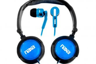 Naxa® - 2-In-1 Combo Super Bass Stereo Headphones and Earphones