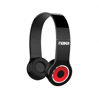 Naxa® - Black Neurale Wireless Headphones with Bluetooth