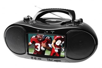 "Naxa® - Portable DVD/AM/FM/USB/SD/MMC Player with 7"" TFT-LCD Display"