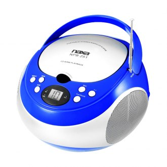 Naxa® - Portable Blue CD Player with AM/FM Stereo Radio