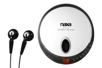 Naxa® - Slim Personal Compact Disc Player