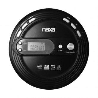 Naxa® - Slim Personal CD Player with FM Scan Radio