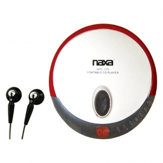 Naxa® - Red Slim Personal CD Player