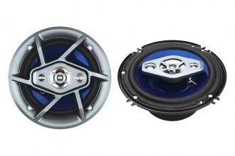 "Naxa® - 6.5"" 4-Way 800W Silver/Blue Speakers"