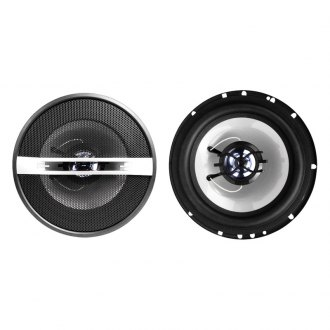 "Naxa® - 6-1/2"" Silver 2-Way NCS Series 800W Coaxial Speakers"