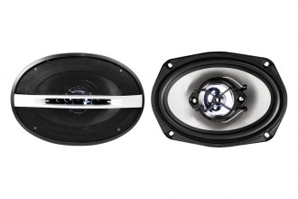 "Naxa® - 6""x9"" 4-Way 1000W Silver/Blue Speakers"