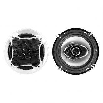 "Naxa® - 6-1/2"" Silver 3-Way NCS Series 800W Coaxial Speakers"