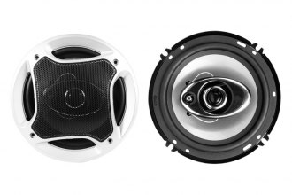 "Naxa® - 6-1/2"" 3-Way 800W Silver/Blue Speakers"