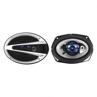 "Naxa® - 6"" x 9"" Black/Silver 3-Way NCS Series 1000W Coaxial Speakers"