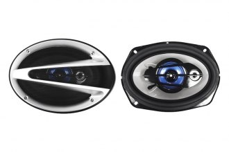 "Naxa® - 6""x9"" 3-Way 1000W Silver/Blue Speakers"