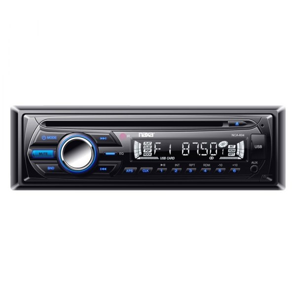 Naxa® - Single DIN Stereo CD/AM/FM/MP3 Player with Text Function, USB Input, SD/MMC Card Slot, MP3 Anti-Skip Protection and Remote Control
