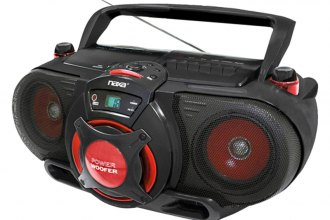 Naxa® - CD/MP3 Bass Reflex Boombox with PA System and Bluetooth
