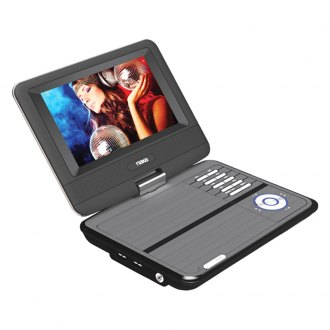 "Naxa® - Portable DVD USB/SD/MMC Receiver with 7"" TFT LCD Swivel Screen"