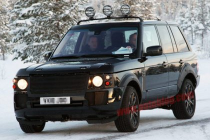 2013 Range Rover Test-Mule Spotted Winter Testing