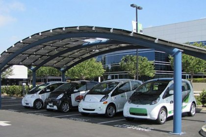 Mitsubishi Opened Solar-Powered Vehicle Charging Station