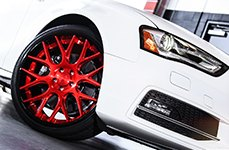 NICHE® - CIRCUIT Multipiece Series Black with Red Center on Audi S4