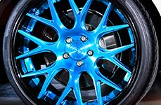 NICHE® - CIRCUIT Multipiece Series Black with Blue Center on Audi S4