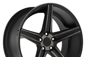 "NICHE® - APEX Black with Machined Face and Double Dark Tint (18"" x 8"", +40 Offset, 5x120.65 Bolt Pattern, 72.6mm Hub)"