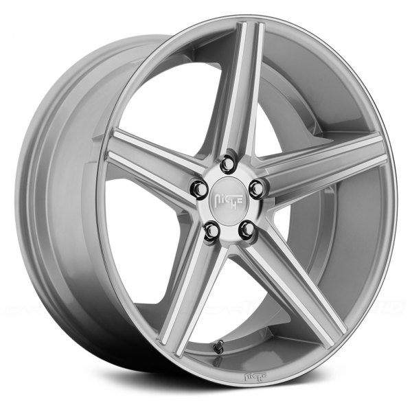 Silver With Machined Spokes Rims